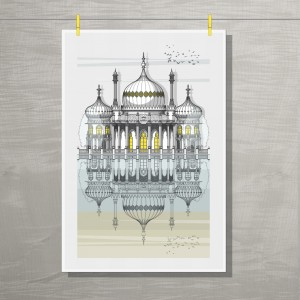 Brighton Tea Towel Hung