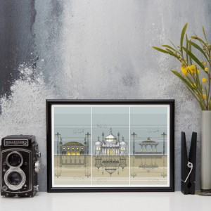 LIN Frame Brighton Triptych MI 72