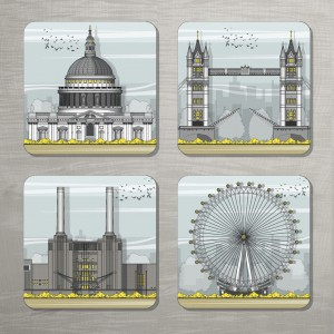 LIN London coasters Set 72