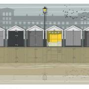 LIN Print Beach Huts A4 72