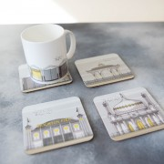 LIN coaster:mug Beach Huts Set 1 72