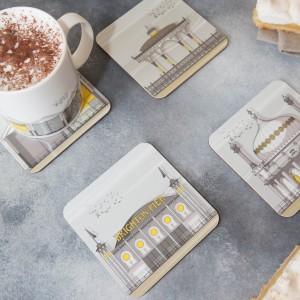 LIN coaster:mug Brighton Set 3 72