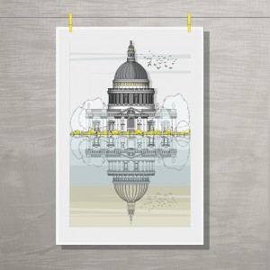 London Tea Towel Hung