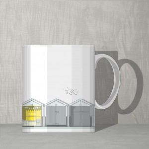 Mug Beach Huts GB 72