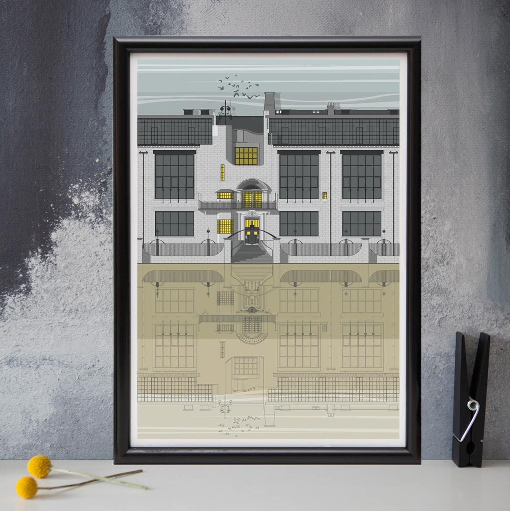 Glasgow School Of Art Print Linescapes