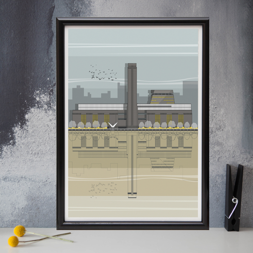 Modern Homes Peg: London Tate Modern Print