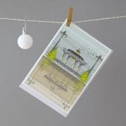 LIN Xmas card Bandstand H
