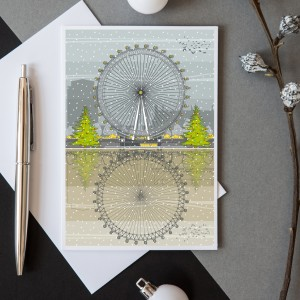 LIN Xmas card London Eye