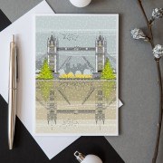 LIN Xmas card Tower Bridge