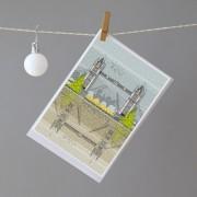 LIN Xmas card Tower Bridge H