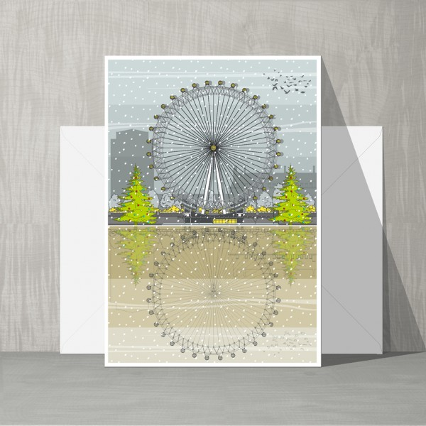 LIN Xmas cards London Eye WB