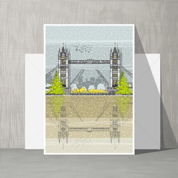 LIN Xmas cards Tower Bridge WB