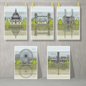 London Christmas Cards Sq