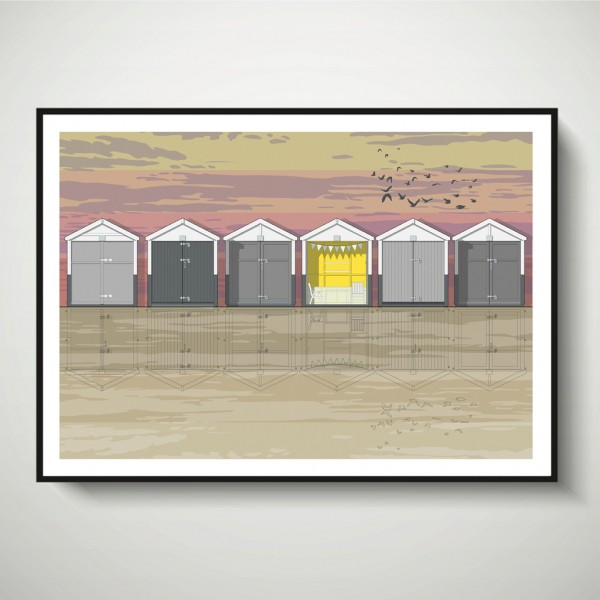 LIN Frame Beach Huts Sunset SF 72
