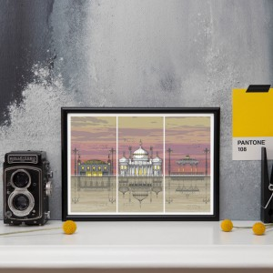 LIN Frame Brighton Triptych Sunset PA 72