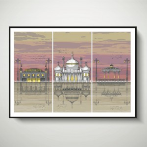 LIN Frame Brighton Triptych Sunset SF 72