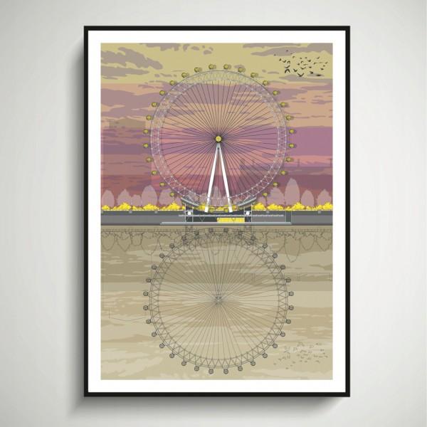 LIN Frame London Eye Sunset SF 72