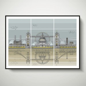 LIN Frame London Triptych SF 72
