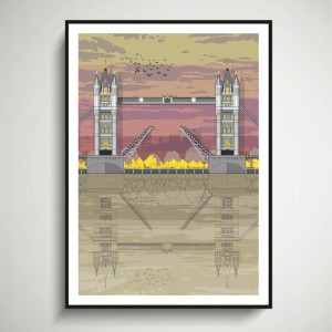 LIN Frame Tower Bridge Sunset SF 72