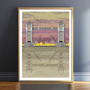 LIN Frame Tower Bridge Sunset TF 72