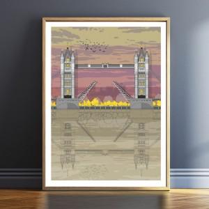 LIN Frame Tower Bridge Sunset TF 72