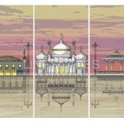 LIN Print Brighton Triptych A4 300 WM