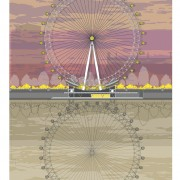 LIN Print London Eye Sunset A4 72