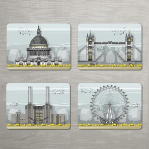 LIN London Placemat Set 72