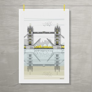 LIN Tea Towel Tower Bridge Hung G