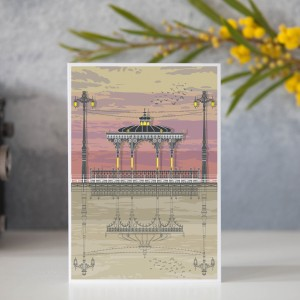 LIN Card Bandstand sunset GB