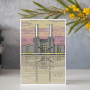 LIN Card Battersea Sunset GB