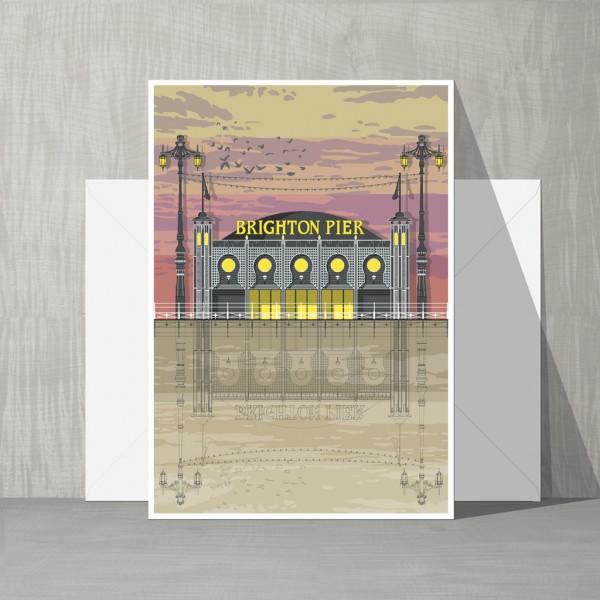 LIN Card Pier Sunset G