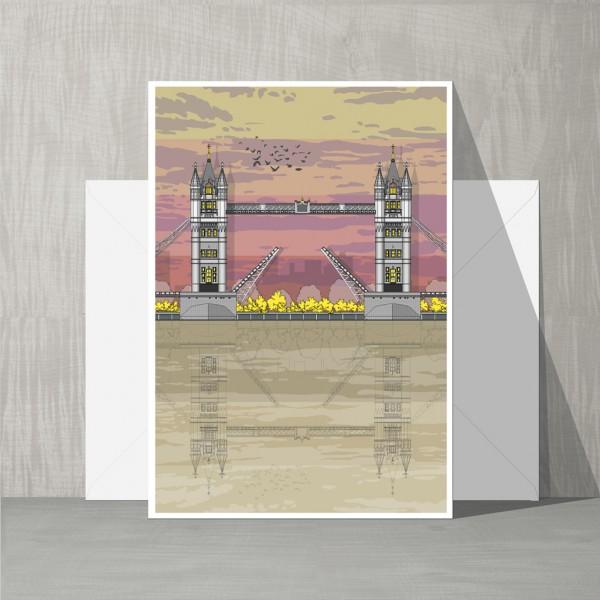 LIN Card Tower Bridge Sunset