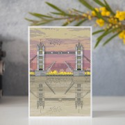 LIN Card Tower Bridge Sunset GB