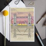 LIN Card Tower Bridge Sunset LF
